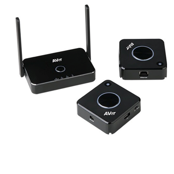 AVer AW200 4K Wireless - Presentation System 1 receiver, 2 transmitter, Click n Play, 5G Wifi, Four way split. EGET DEMOSÆT